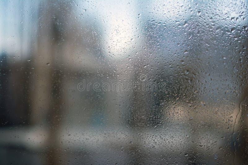 Vidro misted molhado fotografia de stock royalty free