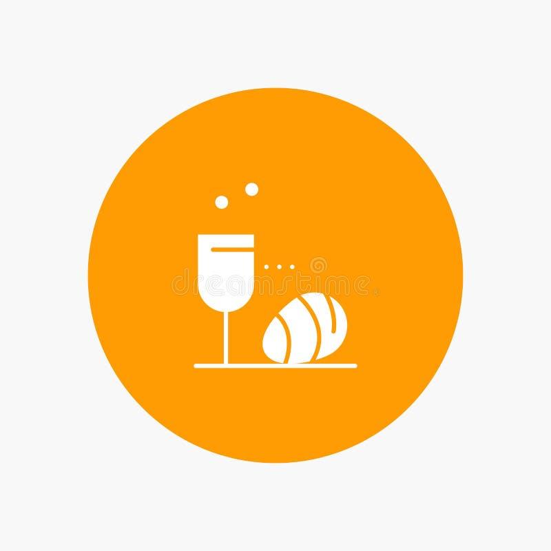 Vidro, ovo, Páscoa, bebida ilustração royalty free
