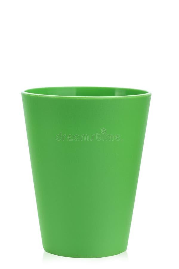 Vidro plástico verde fotografia de stock