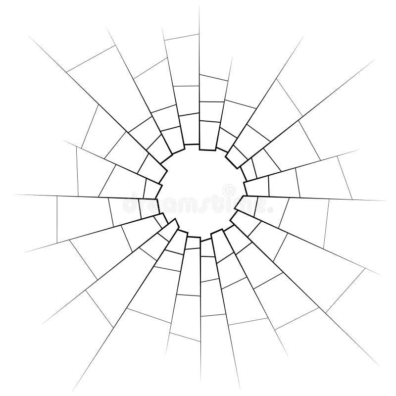 Vidro quebrado ilustração do vetor