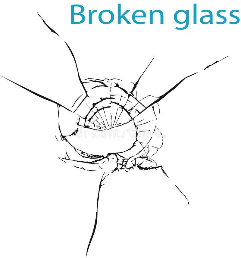 Vidro quebrado ilustração stock