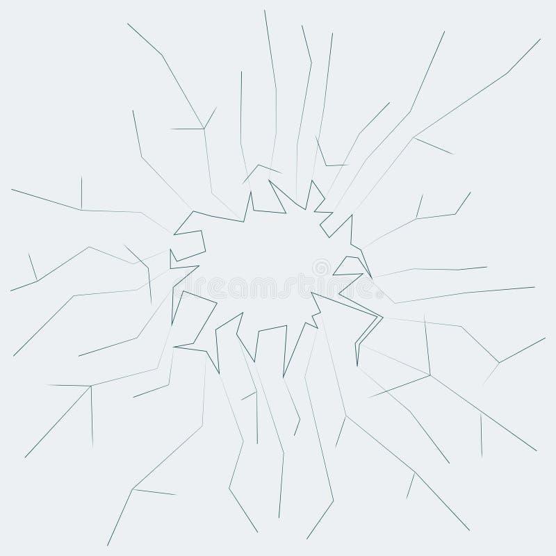 Vidro quebrado com ilustração do vetor