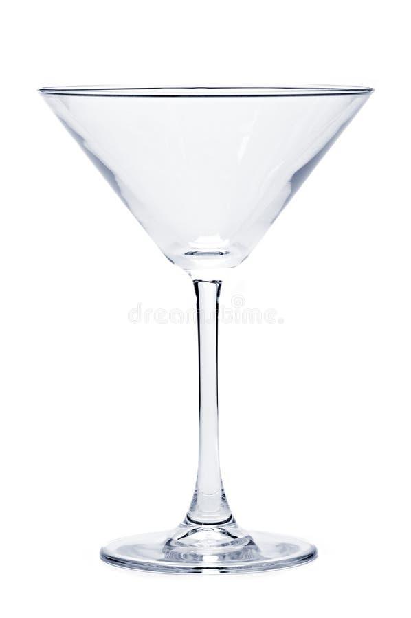Vidro vazio de martini fotografia de stock