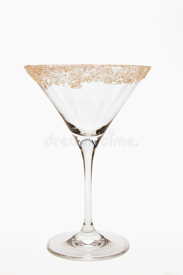 Vidro vazio de Martini fotos de stock royalty free