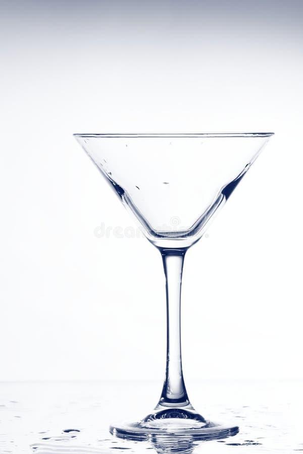 Vidro vazio de martini imagens de stock