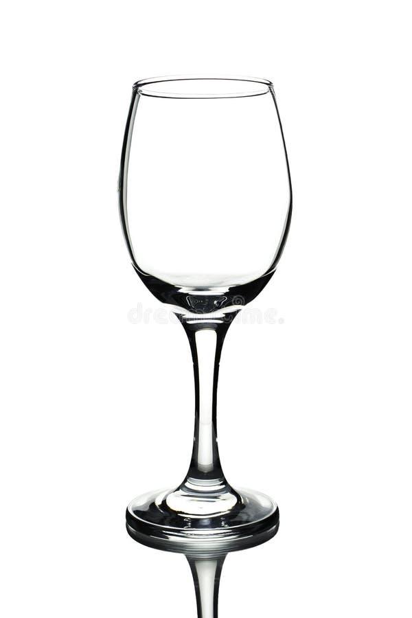 Vidro vazio Isolado em um fundo branco imagem de stock royalty free