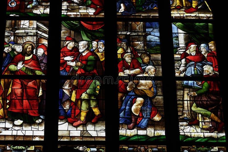 Vidro Windows do domo de Milão imagens de stock royalty free