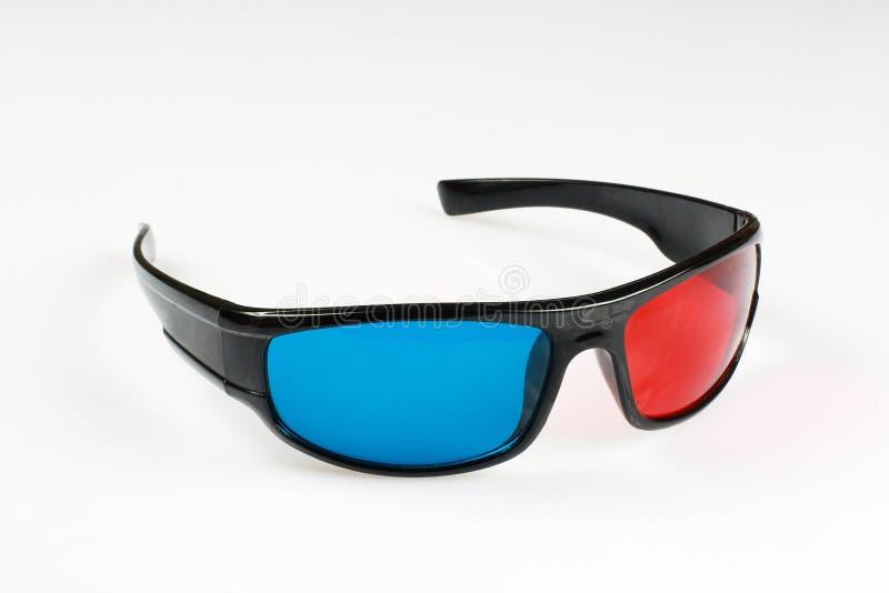 Vidros 3D vermelhos e azuis foto de stock royalty free