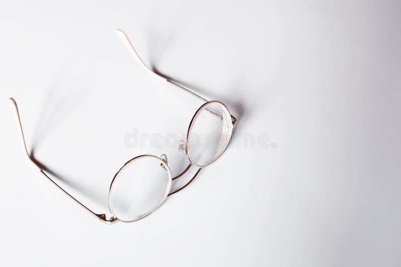 Vidros adolescentes da borda clara do metal fotos de stock