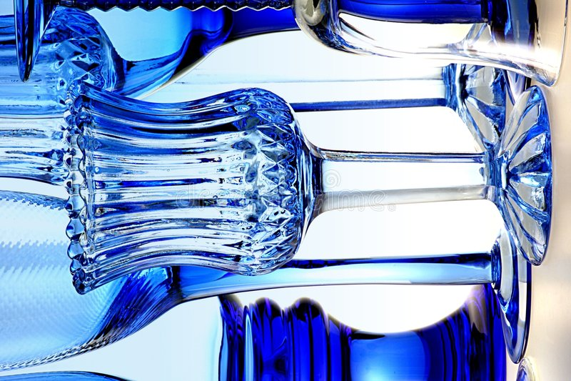 Vidros azuis II fotos de stock royalty free