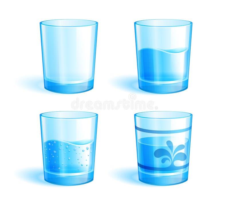 Vidros com água ilustração do vetor