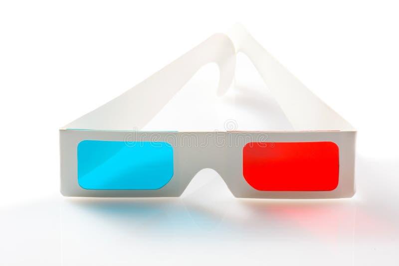 vidros 3d no fundo branco imagem de stock