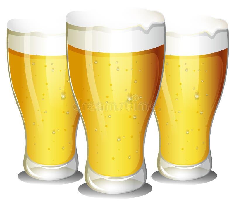 Vidros da cerveja ilustração royalty free
