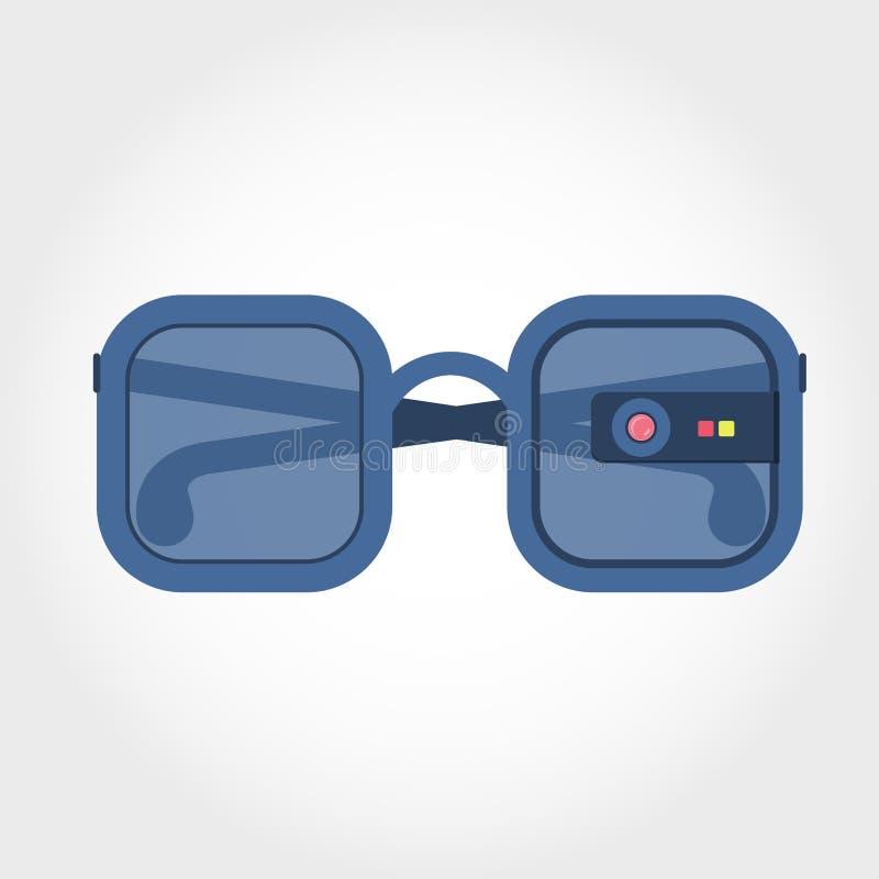 Vidros da realidade virtual ilustração do vetor