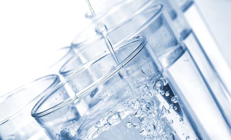 Vidros de água imagens de stock royalty free
