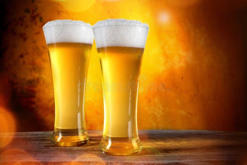 Vidros de cerveja fotografia de stock