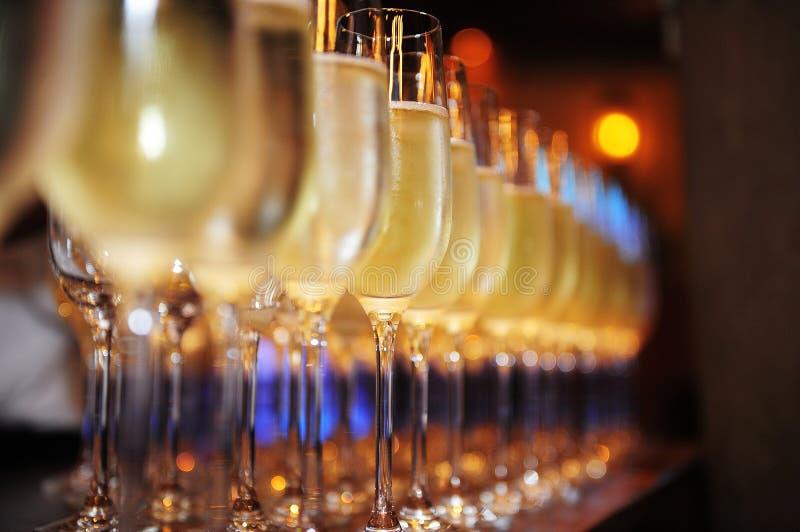 Vidros de Champagne imagens de stock