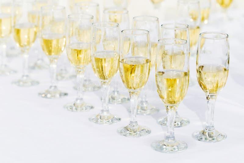Vidros de Champagne fotos de stock