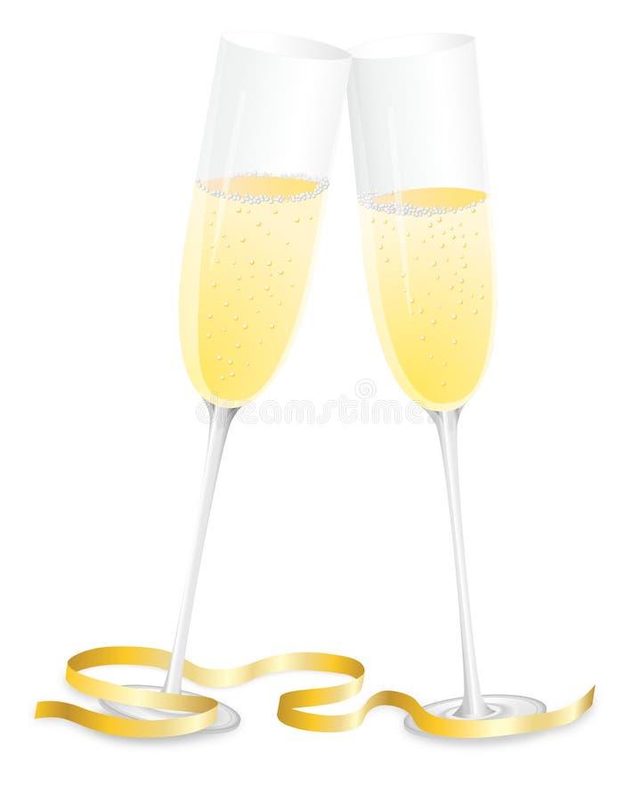 Vidros de Champagne ilustração stock