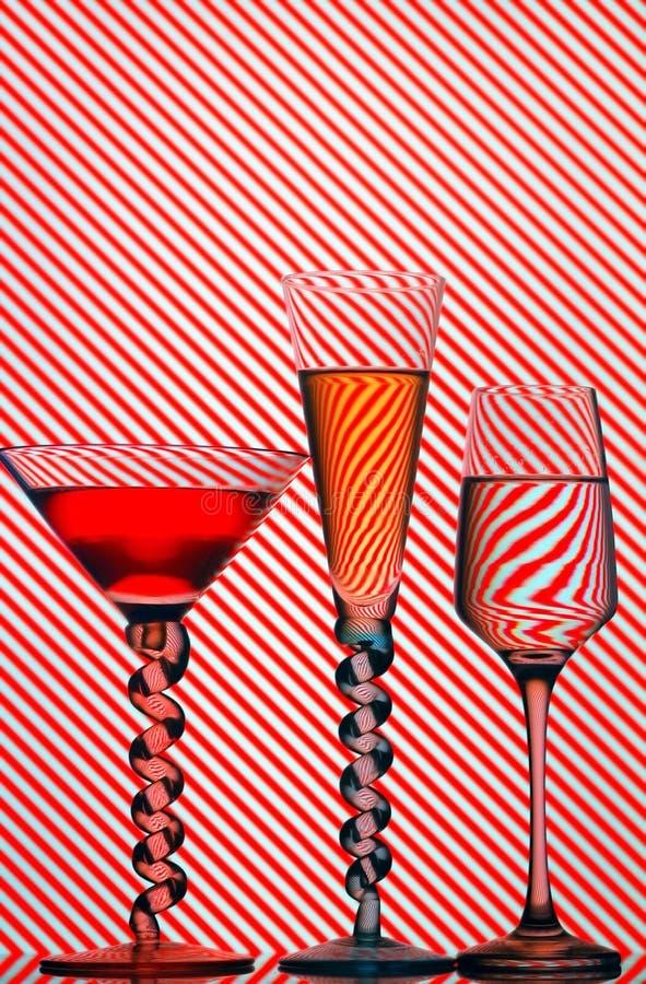Vidros de cocktail imagem de stock royalty free