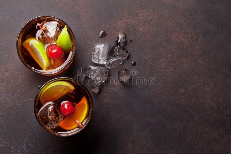 Vidros de cocktail do libre de Cuba imagens de stock royalty free