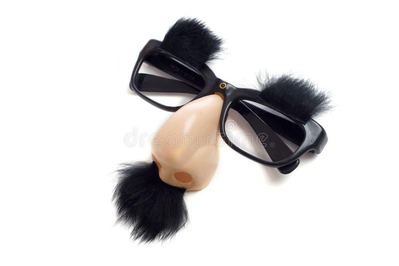 Vidros de Groucho - vidros engraçados imagens de stock