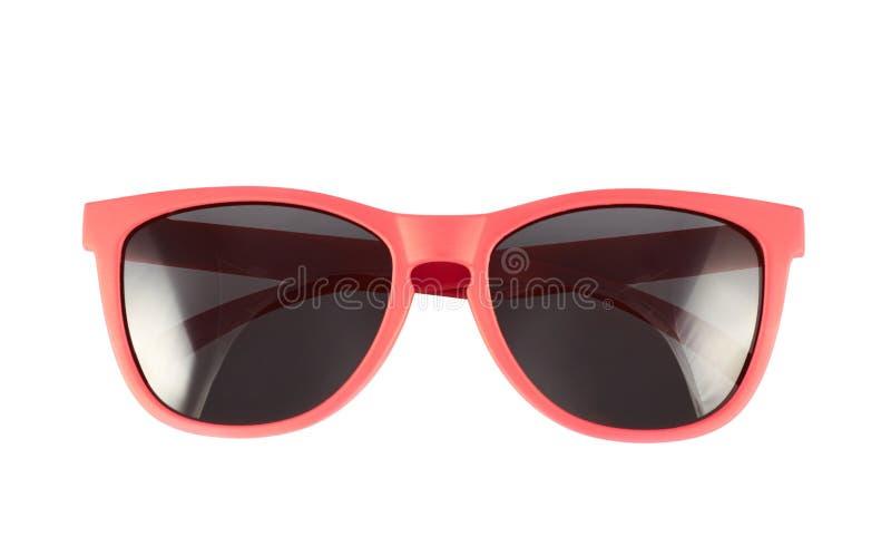Vidros de sol vermelhos isolados fotos de stock royalty free