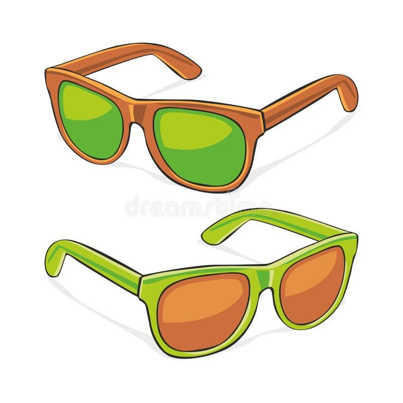 Vidros de Sun ilustração stock