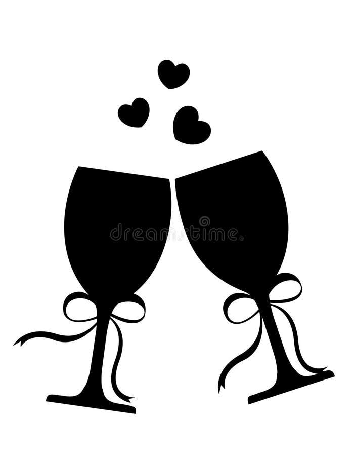 Vidros de vinho ilustração do vetor