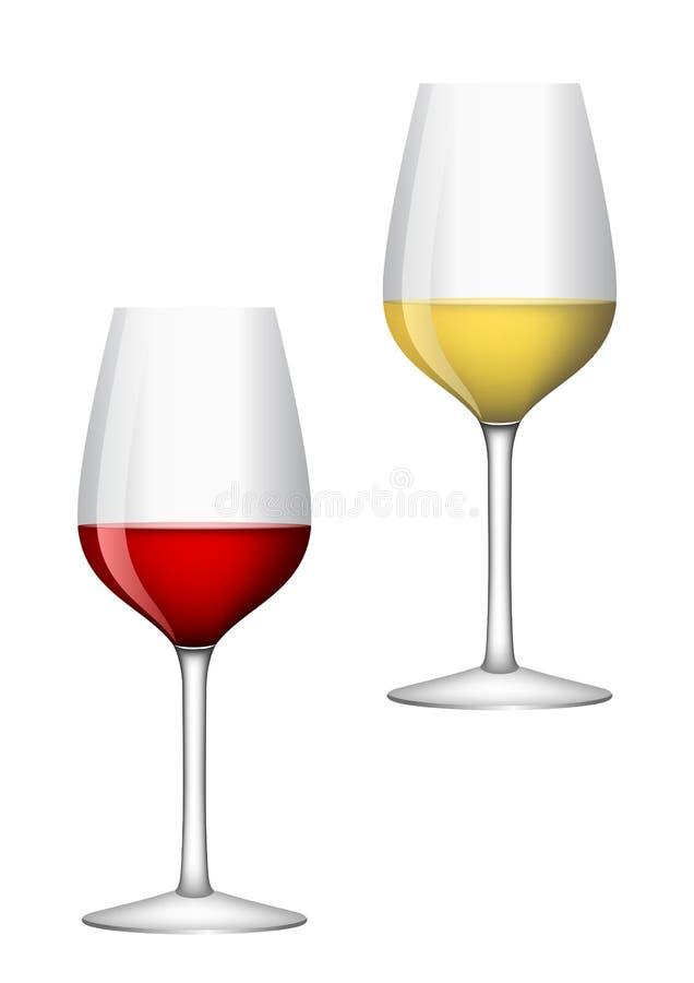 Vidros de vinho ilustração stock
