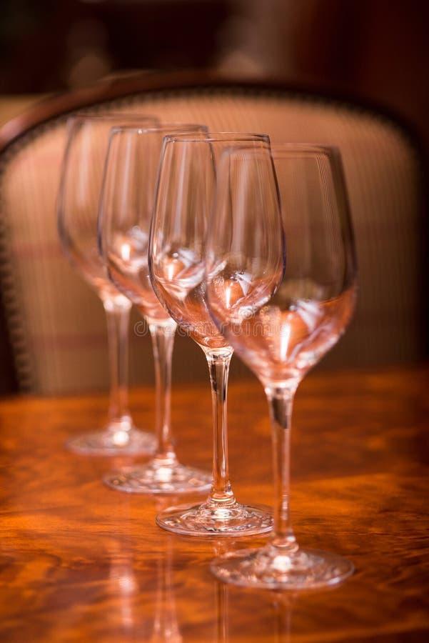 Vidros de vinho fotografia de stock