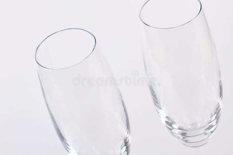 Vidros de vinho dos pares, foto colhida imagens de stock royalty free