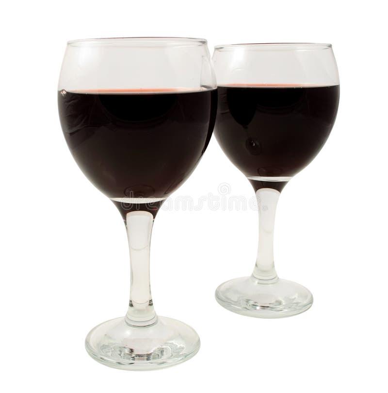 Vidros de vinho vermelho imagem de stock