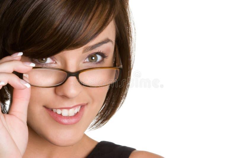Vidros desgastando da menina foto de stock royalty free