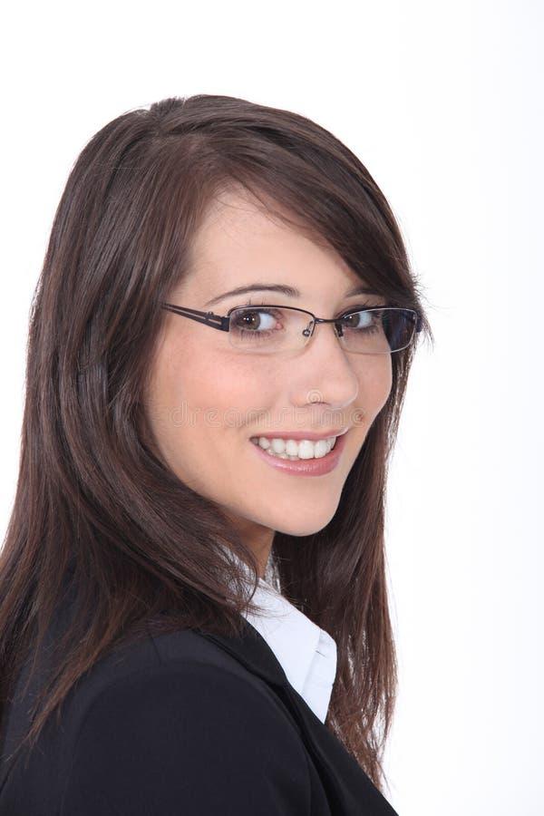 Download Vidros Desgastando Da Mulher De Negócios Nova Foto de Stock - Imagem de adulto, feliz: 26504902