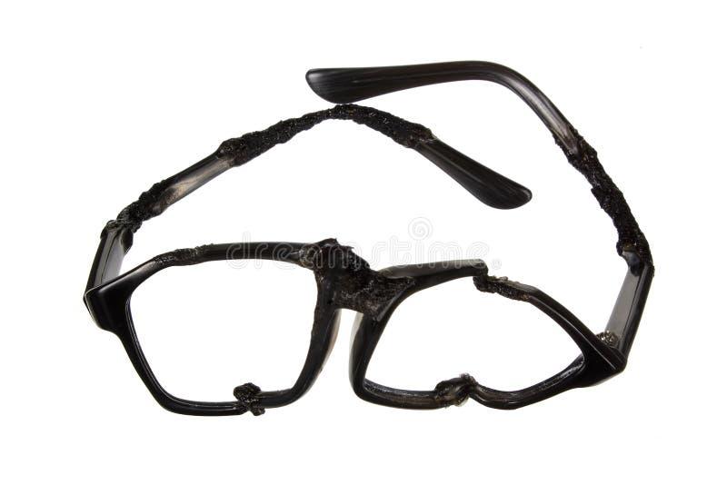 Vidros destruídos do olho imagens de stock