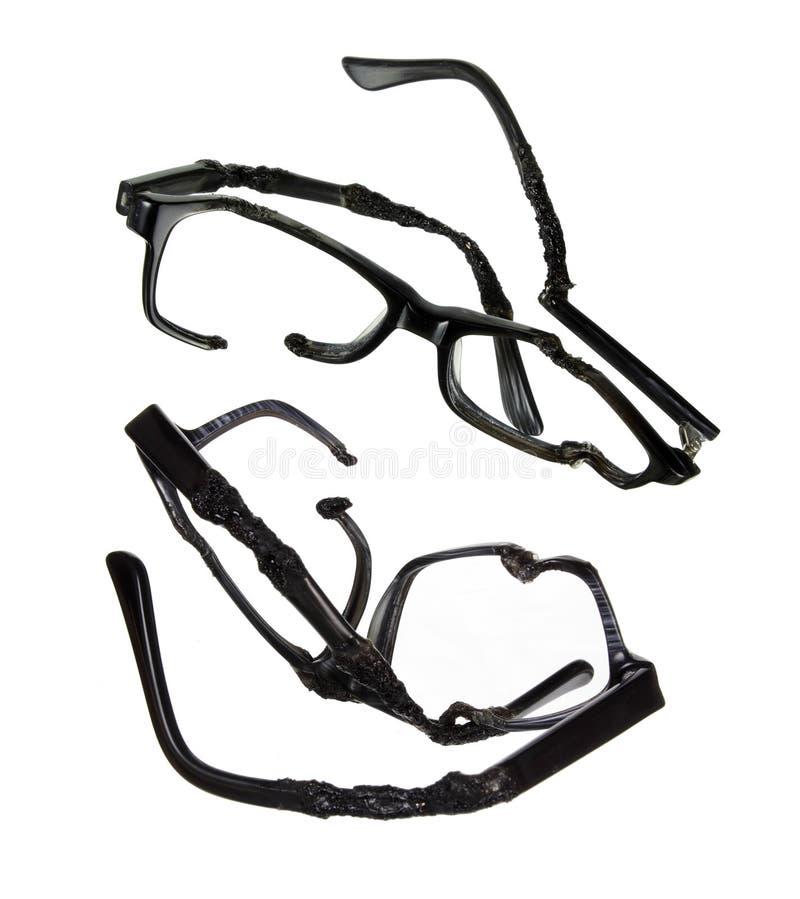 Vidros destruídos do olho fotografia de stock