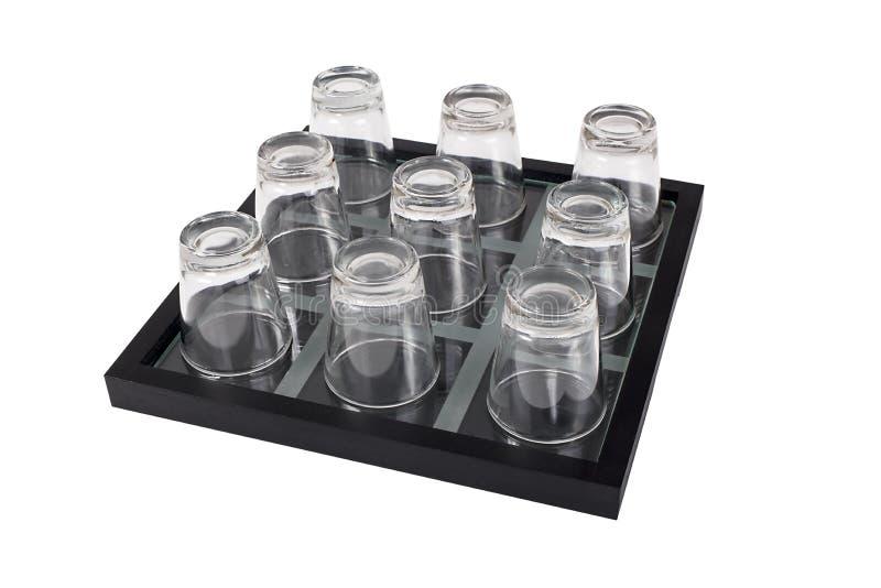 Vidros disparados isolados no branco fotos de stock royalty free