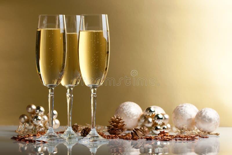 Vidros do champanhe fotos de stock royalty free