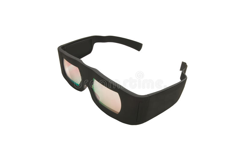 Vidros do Dolby 3D foto de stock