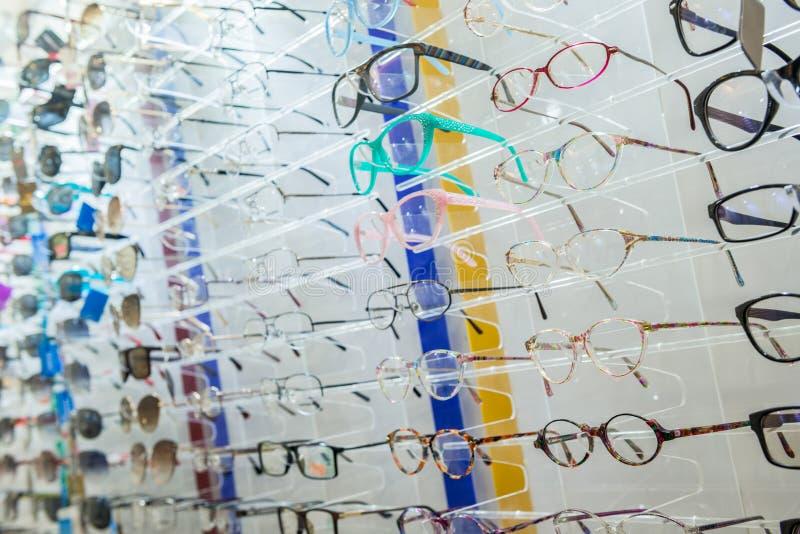 Vidros do olho no suporte foto de stock