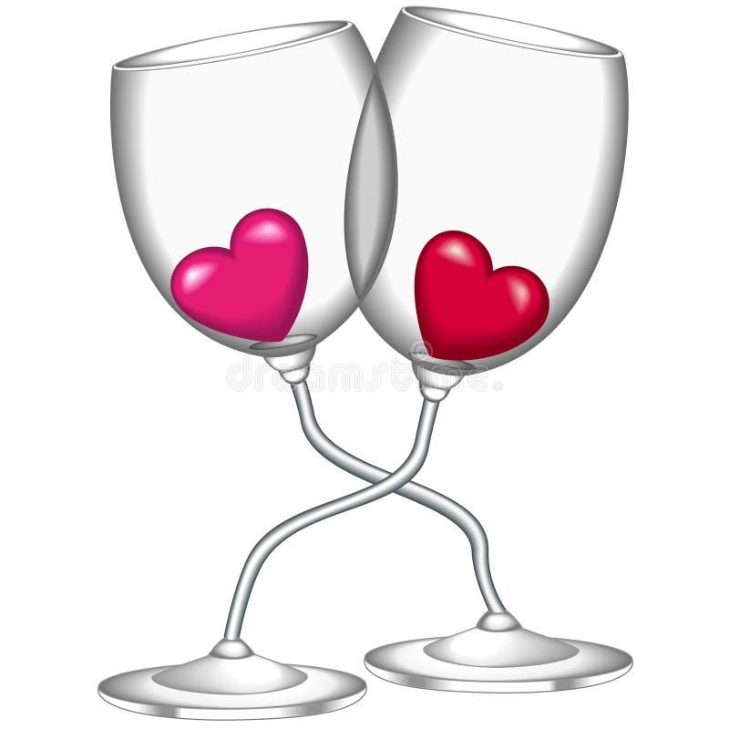 Vidros do vinho ilustração royalty free