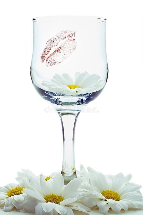 Vidros do vinho e da flor imagens de stock royalty free