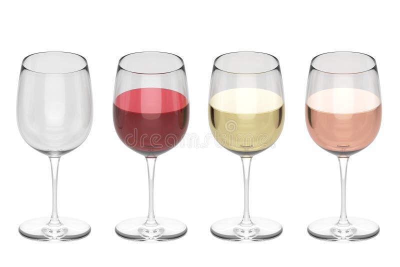 Vidros Do Vinho - Grupo Imagem de Stock Royalty Free