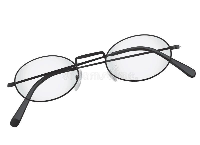 vidros dobrados do olho ilustração stock