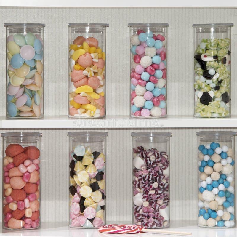 Vidros dos doces imagens de stock