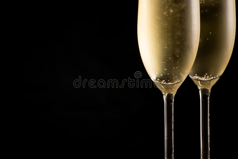 Vidros frios de Champagne imagem de stock royalty free