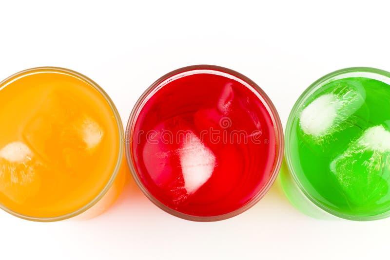 Vidros frios Sweetened da bebida fotografia de stock