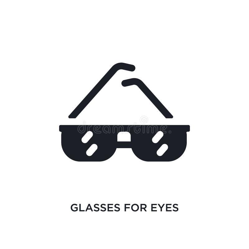 vidros para o ícone isolado olhos ilustração simples do elemento dos ícones do conceito da roupa da mulher vidros para o sinal ed ilustração royalty free