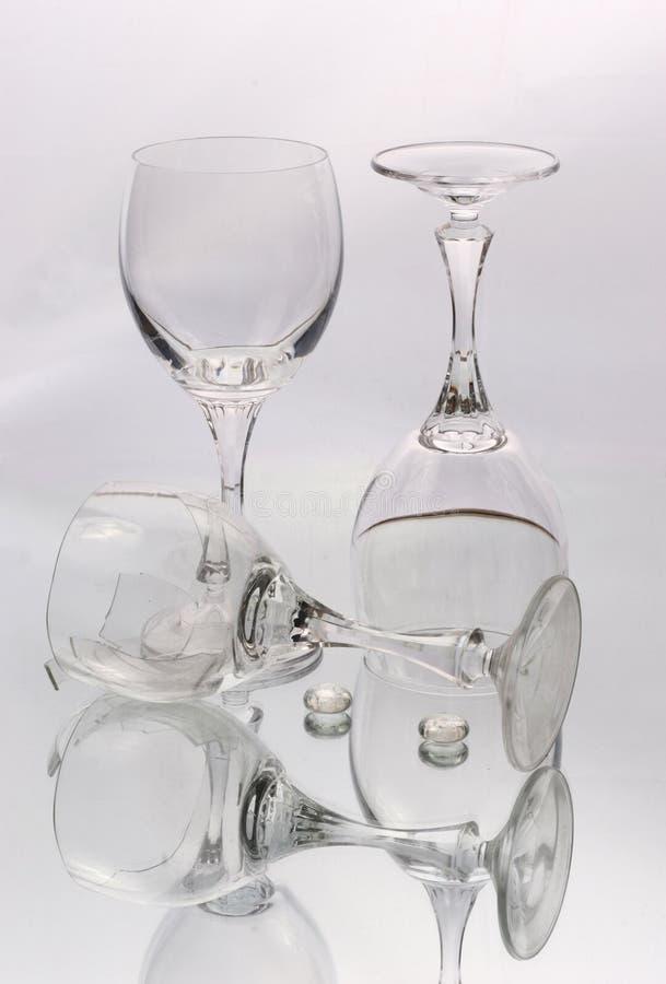 Vidros para o vinho fotografia de stock